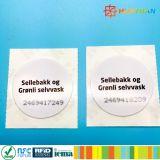 13.56MHz 수동적인 NTAG213/215/216 RFID NFC 레이블 꼬리표
