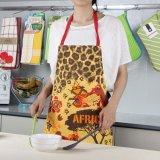 Il grembiule domestico con le caselle, tela di canapa della cucina della busbana francese delle donne del cotone, lavora lavabile alla macchina