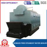 Caldeira de vapor de madeira da pelota para indústria de secagem de matéria têxtil