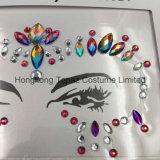2018 Bling Glitter piel ojos Sticker adhesivo acrílico cristal gema pegatinas cara Diamante (E45).