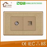 Гнездо переключателя стены касания кнопка электропитания