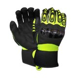 Résistant aux huiles Anti-Impact Sécurité mécanique des gants de travail avec trempage de nitrile