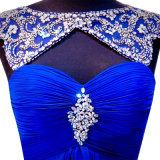 Wulstiger Abend-formale Kleider A - Zeile kundenspezifischer Chiffon- Brautjunfer-Abschlussball kleidet Z601