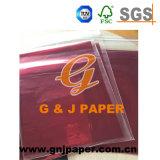 Belle couleur transparente de papier utilisés sur les aliments L'enrubannage