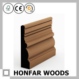 Placa de contorno personalizada material de construção da madeira contínua