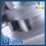 Valvola a farfalla di derivazione dell'acciaio inossidabile della flangia di triplo di Didtek
