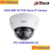 Da distância ao ar livre pequena da segurança 100m IR do ponto de entrada da abóbada de Dahua câmera Ipc-Hdbw5830e-Z5 do IP do CCTV 8MP 4K mini