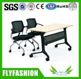 Un style moderne Double Chaise et bureau de l'école avec des roues (SF-51D)