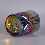 虹色の装飾が付いている浮彫りにされた模造された蝋燭の容器