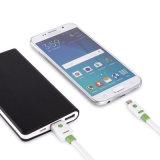 Câble usb plat de nouille de couleur d'accessoires de téléphone mobile double pour le téléphone