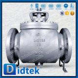 """Didtek 16"""" clase300 Wcb de muñón de entrada superior de la válvula de bola"""