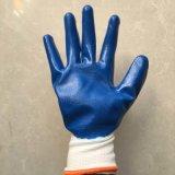 Нитриловые перчатки руки безопасности с покрытием
