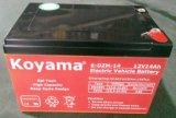6-Dzm-12 do velomotor elétrico da eletrônica da bateria da bicicleta da bateria acidificada ao chumbo 12V 12ah baterias elétricas 48V da bicicleta