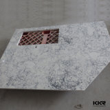 Bancada projetada branca da cozinha do mármore de quartzo de Kingkonree Carrara (C170830)