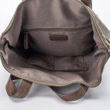 Singolo sacchetto della doppia di uso di affari di svago di disegno del cuoio borsa della tela di canapa