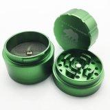 53мм цинкового сплава металла травяной шлифовального станка для курения табака зеленого цвета (ES-GD-121)