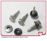 En acier inoxydable 304 316 rondelle à tête hexagonale de l'autonomie de la vis de forage DIN St6.37504K