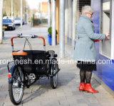 Riksja Pedicab/Pedicab van het Pedaal 250With500W van het Lichaam van de Stijl van Eco van de mobiliteit de Bredere Elektrische/Riksja/Driewieler/Trike/Elektrische Riksja met VoorCe van de Zetel van de Passagier