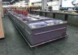 Стекло верхнюю крышку и супермаркет светодиодной подсветки дисплея коммерческих морозильной камере
