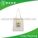 Alça longa promocionais personalizadas reutilizáveis Amiga 100% algodão orgânico Bag