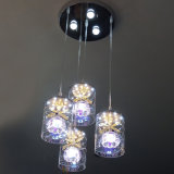 Hängende transparente Glashängende hängende Innenglaslampe