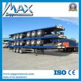 40FT transportierender Flachbettschlußteil des Behälter-3axle halb