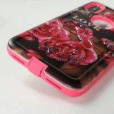 Hybrider Handy-Fall des PU-Pasten-Druck-TPU für iPhone