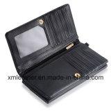 Бумажник застежки -молнии портмона створки положения 2 Multi-Карточки кожаный женщин длинний