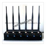 Ordinateur de bureau à 6 canaux haute puissance de signal de téléphone cellulaire le brouilleur/bloqueur, 6 antennes UHF bloqueur de téléphone mobile & Jammer Audio
