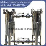 De parallelle Huisvesting van de Filter van de Zak van het Roestvrij staal van de Aansluting voor de Filtratie van het Voedsel en van de Drank