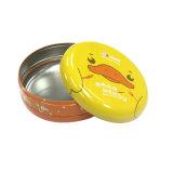 Crema de pequeñas y redondas de alta calidad caja de estaño metal