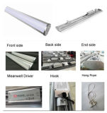 LED impermeável High Bay Linear 120W para as luzes do pendente de alumínio 1200 mm