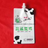 Poche réutilisable d'aliments pour bébés de catégorie comestible avec le bec sur le dessus pour le sac de empaquetage de turbine/jus organique