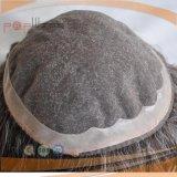 최신 판매 사람의 모발 회색 색깔 Mens Toupee (PPG-l-0224)