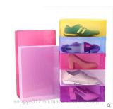 Tampa de caixa transparente da sapata da gaveta