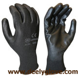 黒いポリエステルPUの手袋