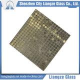 Vidrio de flotador laminado con la hoja de metal adentro para la decoración