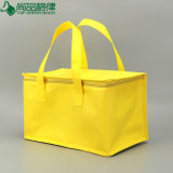 Sac plus frais non tissé isolé remplaçable d'emballage de sac de refroidisseur de déjeuner pour la bière/aliments surgelés