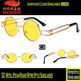 521 óculos de sol retros redondos do estilo do vapor do metal