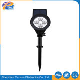 IP65 scaldano l'illuminazione bianca del giardino dell'indicatore luminoso del punto del Polysilicon 1.5With5.5V LED