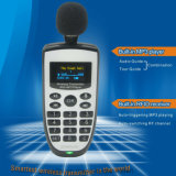 El transmisor inalámbrico UHF con reproductor de MP3