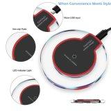 Barata 2018 Qi Solar LED Cristal rápido Wireless cargador para teléfono móvil inteligente