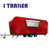 Comida de fibra de vidro rebocável Van Mobile Scooter Alimentar padrão para a Nova Zelândia