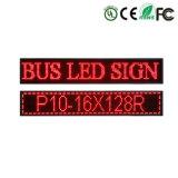 Contrassegno impermeabile della visualizzazione di LED del tabellone per le affissioni della visualizzazione di LED del bus