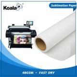 Mayorista de fábrica Premium 48g/55g/75g de sublimación de tinta de secado rápido el papel de transferencia Jumbo Roll