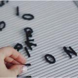 Scheda variabile popolare personalizzata della lettera del menu ritenuta pollice di 12*18 DIY