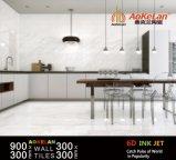 300*900mm Carrara Wit Inkjet verglaasden de Binnenlandse Ceramische Tegel van de Muur