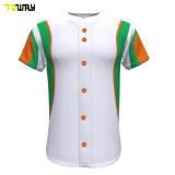 Sport Wear Full Dye Sublimation Button Down Baseball Maglie Custom