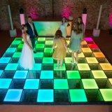 Fête de mariage Panneau frontal en verre coloré LED RVB de piste de danse