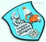 Broderie personnalisée d'un insigne à la promotion du tissu d'un insigne Étiquette